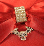 Gothic / Steampunk Charms - Skull and Bat Wings Charm