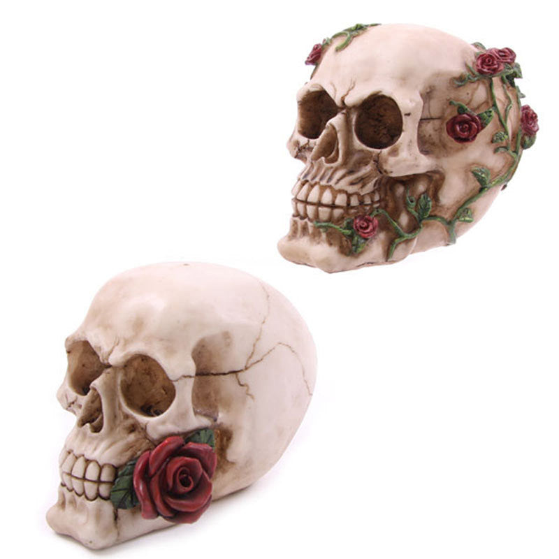 Skull with Roses Table Centrepiece