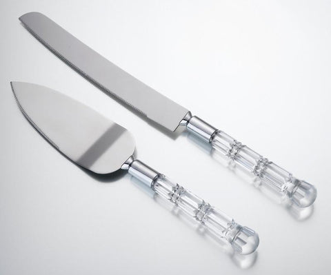 Acrylic Handle Cake Knife & Server Set