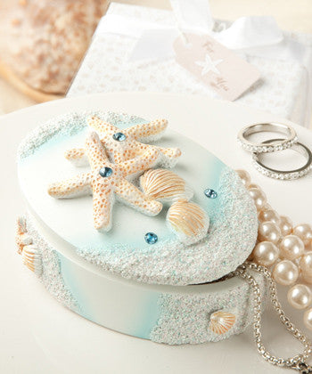 """Life's a Beach"" Wedding Favour Box"
