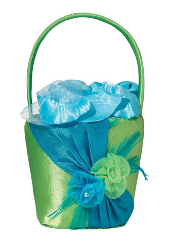 Blue / Green Wedding Flower Basket