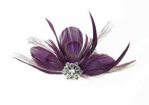 Feather Hair Clip – Plum