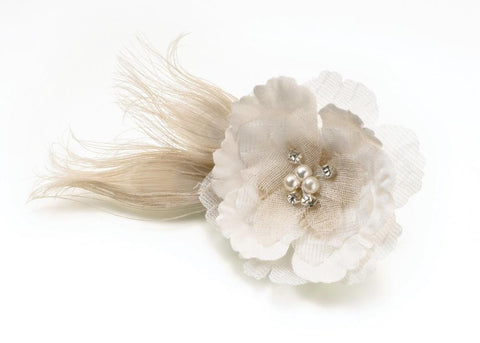 Burlap Wedding Hair Clip/Decoration