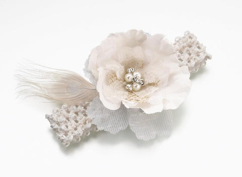 Burlap & Lace Wedding Garter