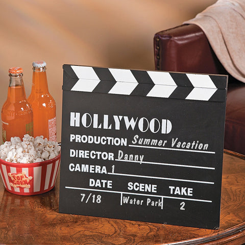 Hollywood Wedding Director's Clapperboard Table Centrepiece