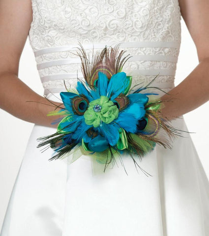 """Peacock"" Wedding Bouquet"