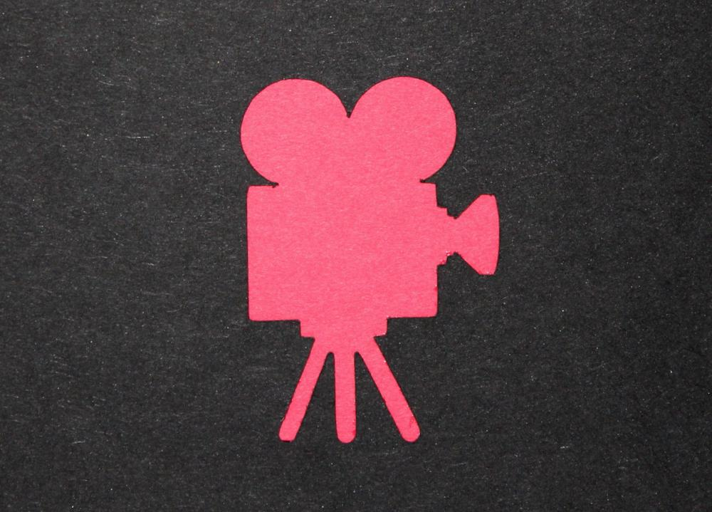 Movie Camera Pillow Favour Boxes x 10 red