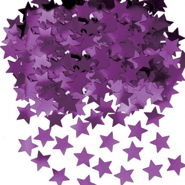 Purple Star Metallic Table Confetti 14g