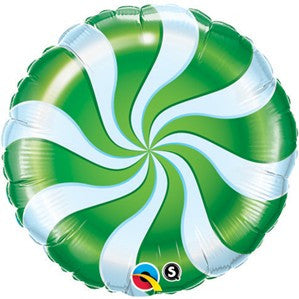 "Candy Swirl 18"" Foil Balloon - Green"