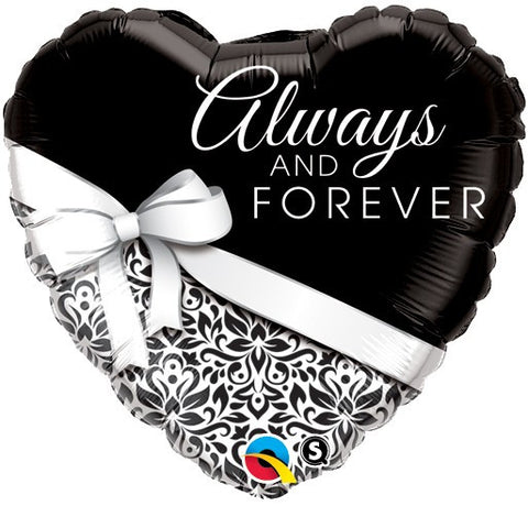 "18"" Heart Shaped Always & Forever Foil Balloon"