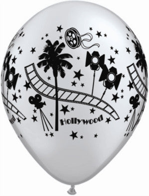 "Hollywood Silver 11"" Latex Balloons - pack of 25"