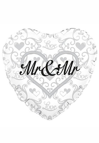 "18"" Heart Shaped Mr & Mr Foil Balloon"