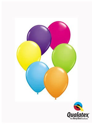 "5"" Tropical Assorted Latex Balloons - pack of 100"