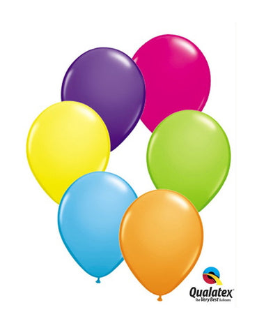 "11"" Tropical Assortment Latex Balloons - pack of 25"
