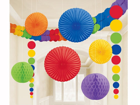 Rainbow Hanging Decoration Kit - 9 pieces