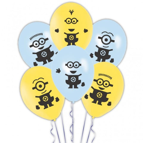 Despicable Me Minion Latex Balloons - pack of 6