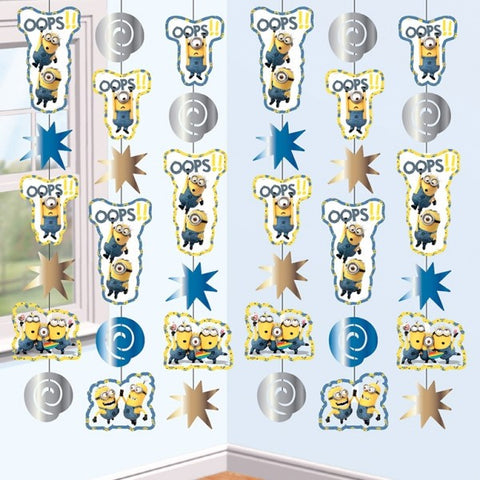 Minions Movie Hanging String Decorations - pack of 6