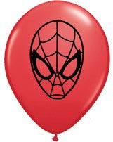 "5"" Spiderman Latex Balloons - pack of 100"