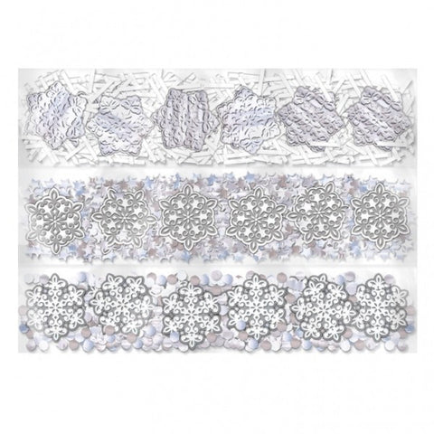 """Snowflake"" Winter Wedding Table Confetti 3pk"