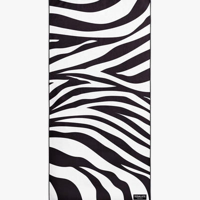 Hot Stripes - Black/White-Beach-Towel