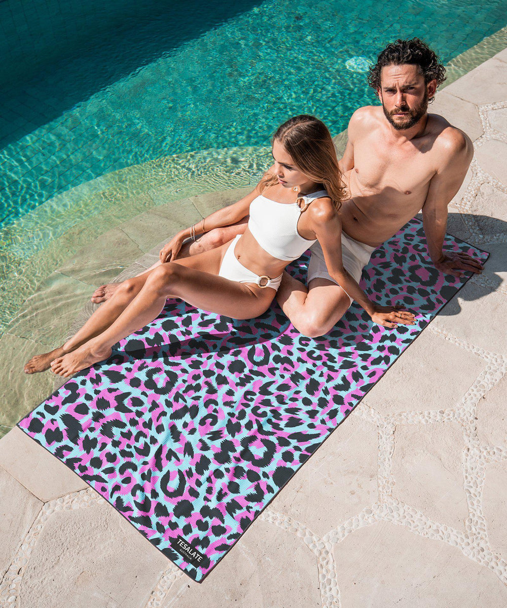 Wild Ones - Pink/Blue-Beach-Towel