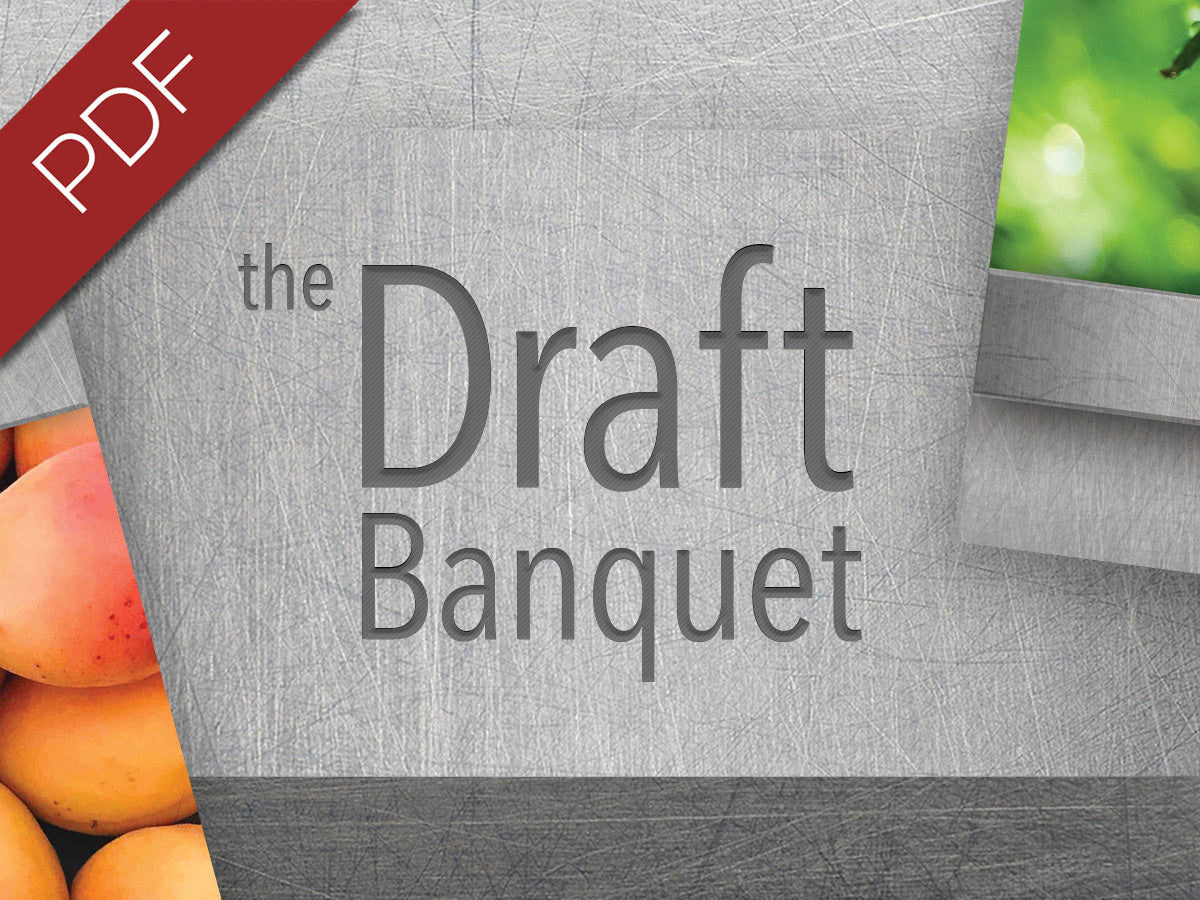 The Draft Banquet PDF is available