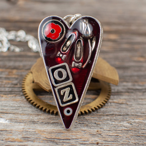 Wizard of Oz  theme long heart Necklace - Lisa Young Design