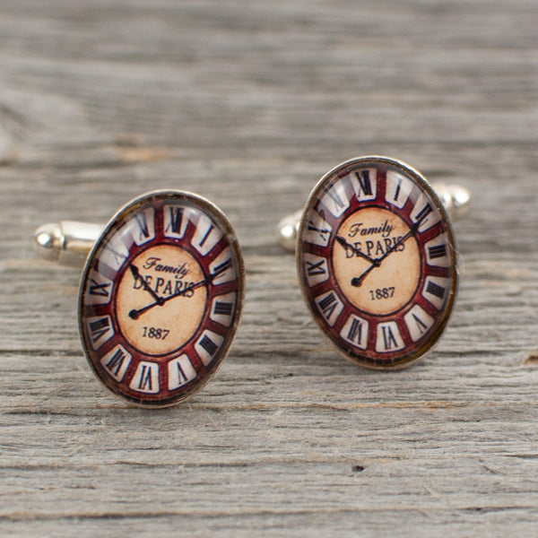 Oval Watch Face Cufflinks - Lisa Young Design