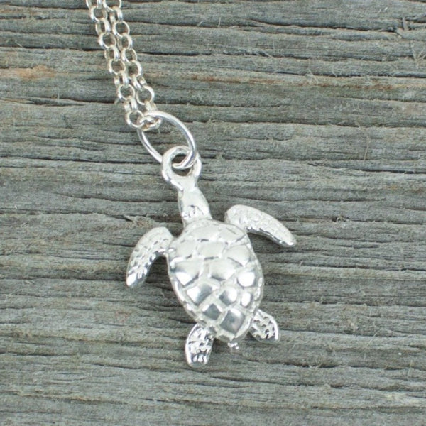 Turtle charm  Silver Necklace - Lisa Young Design
