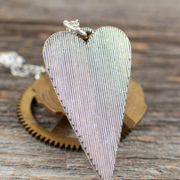 Watch part heart Necklace - Lisa Young Design