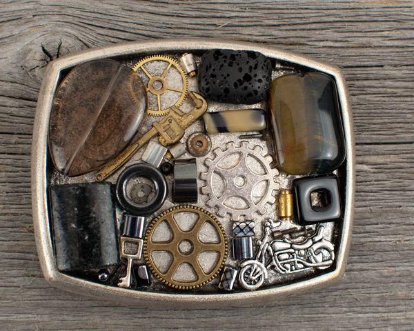 Motorcycle Theme  Belt Buckle - Lisa Young Design