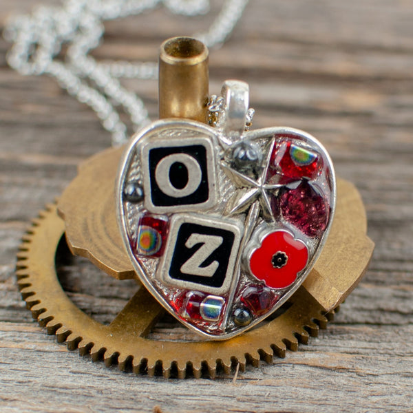 Wizard of Oz theme small heart Necklace - Lisa Young Design