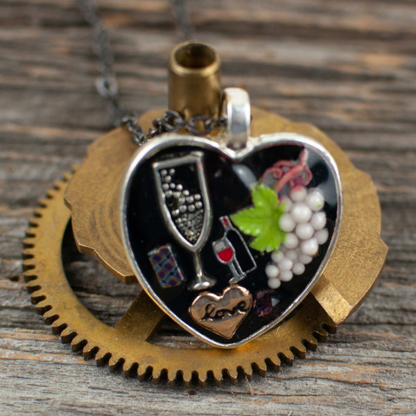 Wine lover Necklace - Lisa Young Design