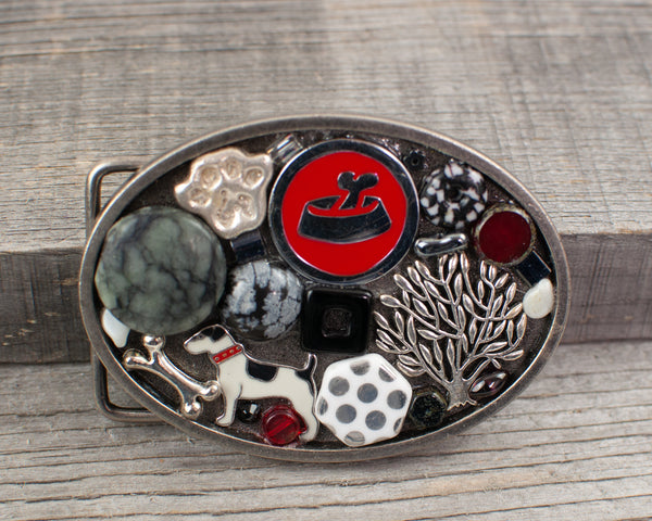 Dog  lovers theme Oval Belt Buckle - Lisa Young Design
