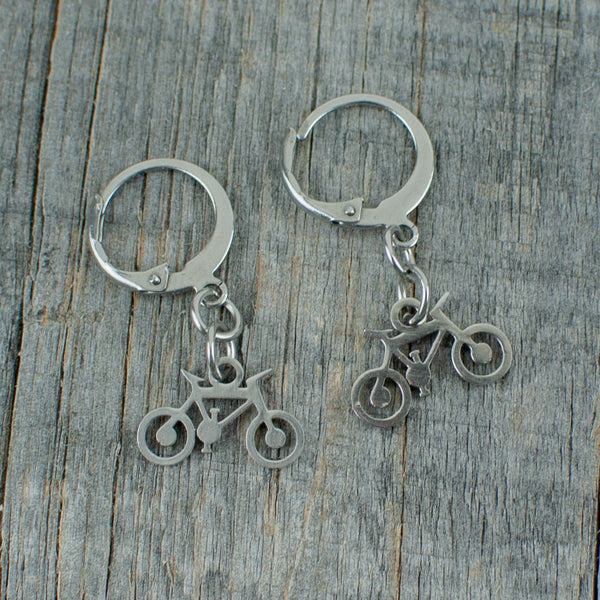 Bicycle stainless steel  earrings - Lisa Young Design