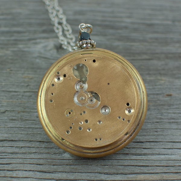 Travel theme Pocket Watch Necklace - Lisa Young Design