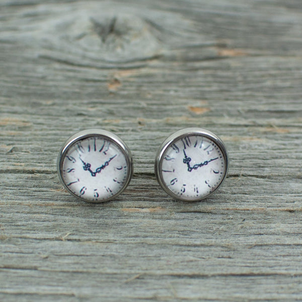 Watch Face Stud Earrings 10mm - Lisa Young Design