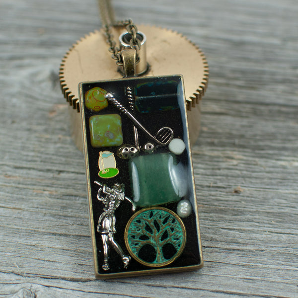 Golf theme necklace - Lisa Young Design