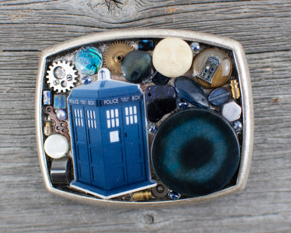 Dr Who Tardis  Belt Buckle - Lisa Young Design