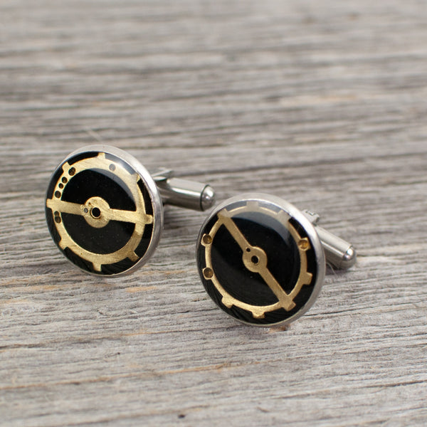 Watch part Cuff links - Lisa Young Design