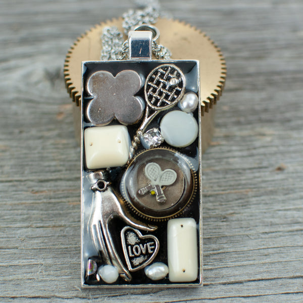 Tennis theme necklace - Lisa Young Design
