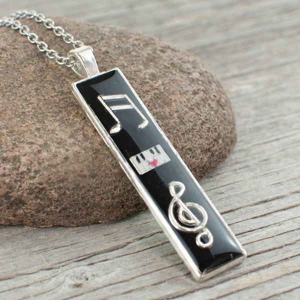 Music Themed long Necklace