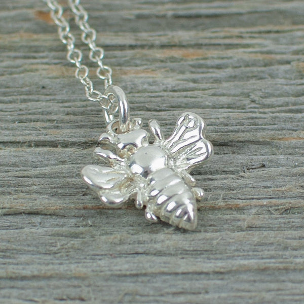 Bee charm Silver Necklace