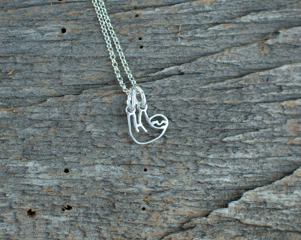 Sloth Silver Necklace - Lisa Young Design
