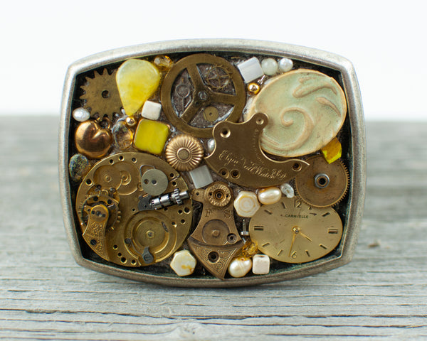 Watch gears Theme  Belt Buckle - Lisa Young Design