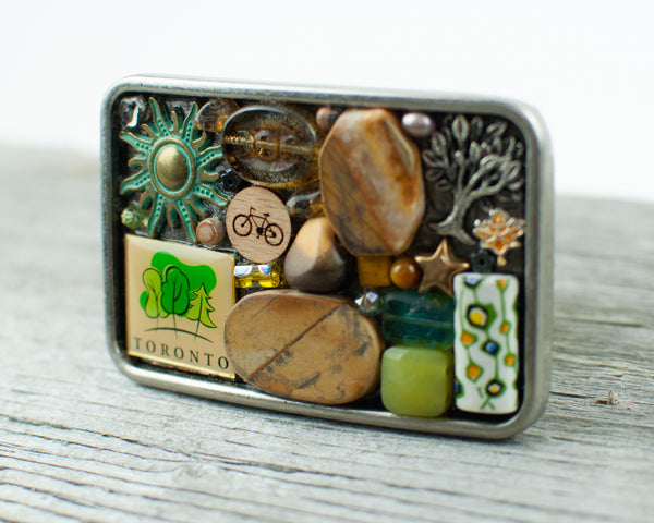 Toronto theme Oval Belt Buckle - Lisa Young Design