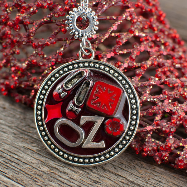 Wizard of Oz  theme round Necklace - Lisa Young Design