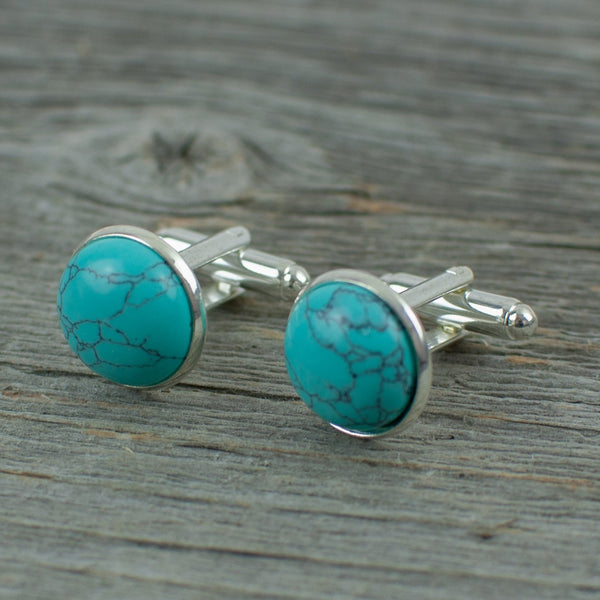 Turquoise Cuff links - Lisa Young Design