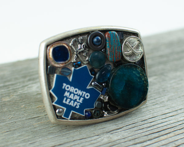 Toronto Maple Leafs theme Belt Buckle - Lisa Young Design
