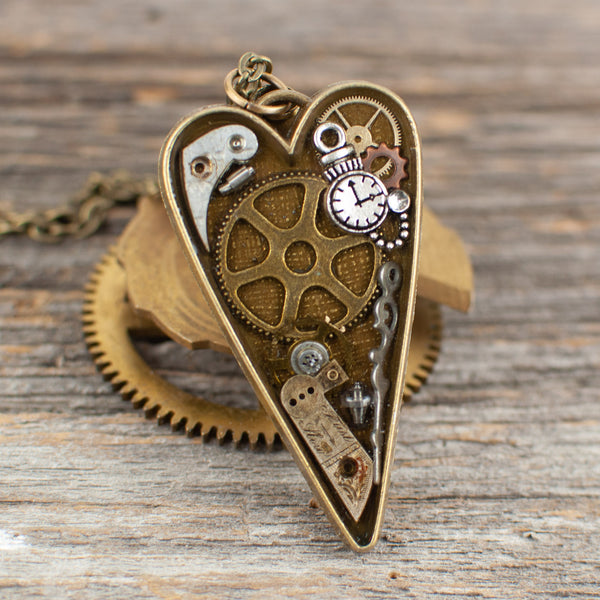 Watch part heart Necklace
